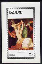 Nagaland 1972 Paintings of Nudes imperf souvenir sheet (2ch value) La Toilette d'Esther by Theodore Chasseriau, unmounted mint