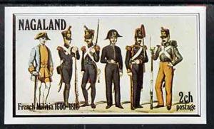 Nagaland 1977 French Militia imperf souvenir sheet (2ch value) unmounted mint