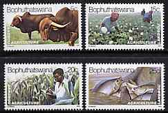 Bophuthatswana 1979 Agriculture set of 4 unmounted mint, SG 51-54*
