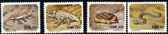 South West Africa 1978 Small Animals set of 4 unmounted mint, SG 311-14