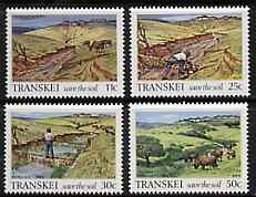 Transkei 1985 Soil Conservation set of 4 unmounted mint, SG 164-67*