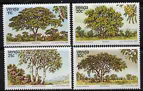 Venda 1984 Indigenous Trees #3 set of 4 unmounted mint, SG 95-98*