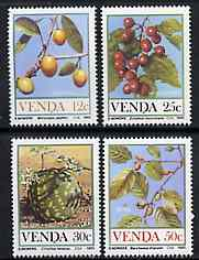 Venda 1984 Food from the Veld #1 set of 4 unmounted mint, SG 111-14*