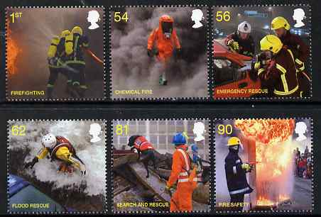 Great Britain 2009 Fire Service perf set of 6 unmounted mint