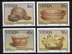 Venda 1989 Traditional Kitchenware set of 4 unmounted mint, SG 183-86, stamps on food
