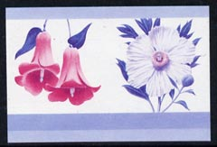 St Vincent - Bequia 1985 Flowers (Leaders of the World) 20c (Lapageria rosea & Romneya coulteri) imperf se-tenant proof pair in magenta & blue only unmounted mint