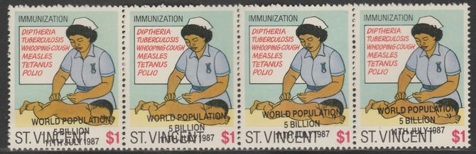 St Vincent 1987 Child Health $1 value opt