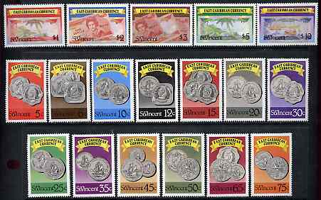 St Vincent 1987 East Caribbean Currency complete litho set of 18 values unmounted mint, SG 1098-1115*