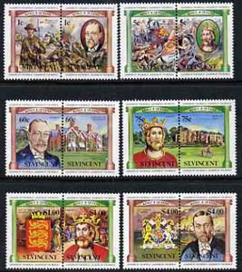 St Vincent 1984 British Monarchs (Leaders of the World) set of 12 unmounted mint, SG 776-87