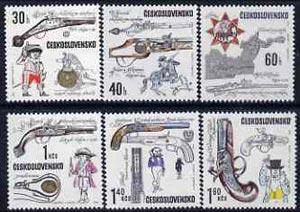 Czechoslovakia 1969 Early Pistols set of 6 unmounted mint, SG 1805-10, Mi 1854-59