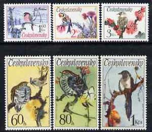 Czechoslovakia 1972 Songbirds set of 6 unmounted mint, SG 2072-77, Mi 2110-15