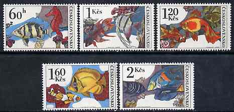 Czechoslovakia 1975 Aquarium Fish set of 5 unmounted mint, SG 2222-26, Mi 2260-64*
