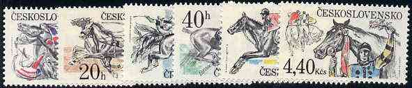 Czechoslovakia 1978 Steeplechase set of 6 unmounted mint, SG 2430-35, Mi 2469-74*