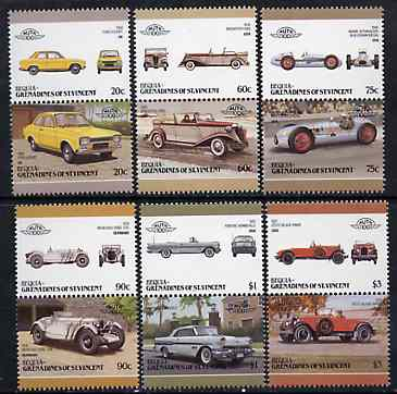 St Vincent - Bequia 1986 Cars #6 (Leaders of the World) set of 12 unmounted mint
