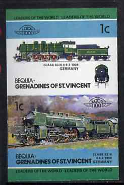 St Vincent - Bequia 1984 Locomotives #2 (Leaders of the World) 1c (4-6-2 Class S3/6) imperf se-tenant pair unmounted mint*