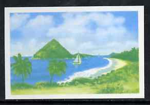 Grenada 1975 Sugar Loaf Island $10 imperf progressive colour proof in blue & yellow (as SG 668) unmounted mint