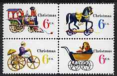 United States 1970 Christmas se-tenant block of 4, SG 1414b