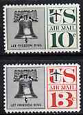 United States 1959 Liberty Bell 10c & 13c unmounted mint, SG A1137-38*