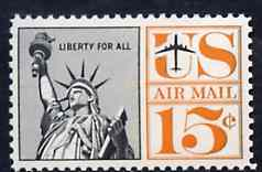 United States 1959 Statue of Liberty 15c (2 central vert lines) unmounted mint SG A1140*