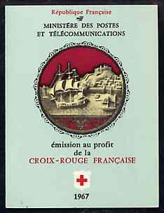 Booklet - France 1967 Red Cross (Museum Ivories) 3f Booklet complete and very fine, SG XSB17