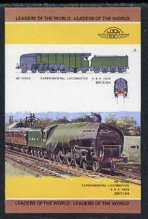 St Vincent - Bequia 1984 Locomotives #1 (Leaders of the World) $1.50 (Experimental Loco) imperf se-tenant progressive proof pair with Country name and value omitted unmounted mint