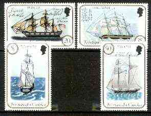 Tristan da Cunha 1983 Ships (2nd series) set of 4 unmounted mint, SG 341-44 (gutter pairs pro-rata)