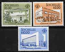 Seychelles 1987 Banking in Seychelles set of 3 unmounted mint, SG 671-73*