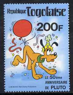 Togo 1980 50th Anniversary of Walt Disney