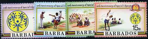 Barbados 1987 Special Olympics set of 4 unmounted mint, SG 832-35*
