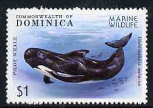 Dominica 1979 Pilot Whale $1 from Marine Wildlife set unmounted mint, SG 664*
