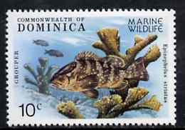 Dominica 1979 Grouper Fish & Coral 10c unmounted mint from Marine Wildlife set of 6, SG 660