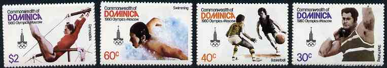 Dominica 1980 Moscow Olympic Games set of 4 unmounted mint, SG 710-13*