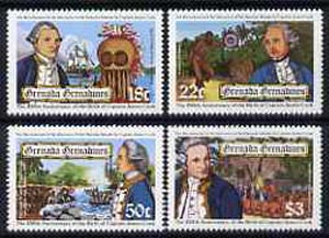 Grenada - Grenadines 1978 Birth Anniversary of Capt Cook set of 4 unmounted mint, SG 307-10*