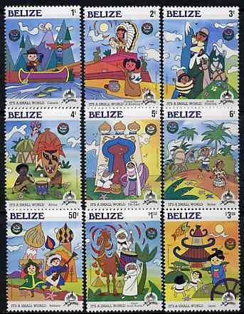 Belize 1985 Christmas (30th Anniversary of Disneyland) set of 9, SG 866-74 *