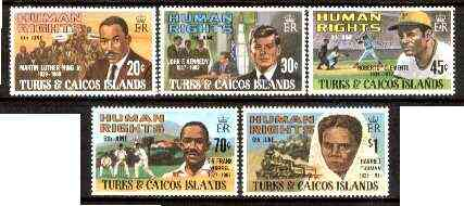Turks & Caicos Islands 1980 Human Rights Personalities set of 5 unmounted mint, SG 624-28*