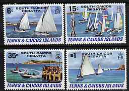 Turks & Caicos Islands 1981 South Caicos Regatta set of 4 unmounted mint, SG 630-33 (blocks & gutter pairs pro rata)