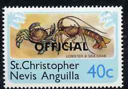 St Kitts-Nevis 1980 Lobster & Crab 40c from