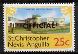 St Kitts-Nevis 1980 Crafthouse (Craft Centre) 25c from