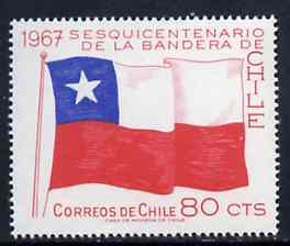 Chile 1967 National Flag 80c unmounted mint, SG 588*
