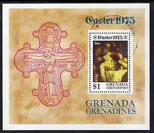 Grenada - Grenadines 1975 Easter m/sheet (Titian) cto used, SG MS 67