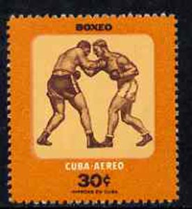 Cuba 1957 Boxing 30c from Youth Recreation set unmounted mint, SG 819*