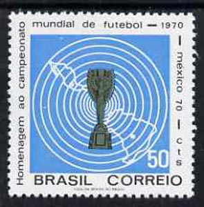 Brazil 1970 Football World Cup Championship unmounted mint, SG 1298*