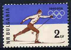 Bulgaria 1960 Winter Olympic Games, SG 1186, Mi 1153*, stamps on olympics    skiing