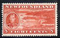Newfoundland 1937 KG6 Coronation 8c (Paper Mills) comb perf 13 mounted mint, SG 260f