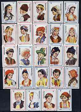 Match Box Labels - complete set of 24 Folk Costumes, superb unused condition (Yugoslavian)