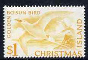 Christmas Island 1963 Tropic Bird $1 from definitive set unmounted mint, SG 20