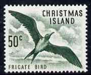 Christmas Island 1963 Frigate Bird 50c from definitive set unmounted mint, SG 19*