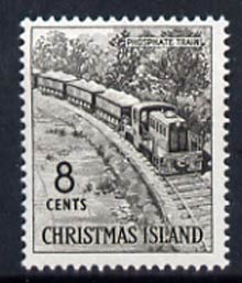 Christmas Island 1963 Phosphate Train 8c from definitive set unmounted mint, SG 15