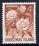 Christmas Island 1963 Moonflower 4c from definitive set, SG 12 unmounted mint*