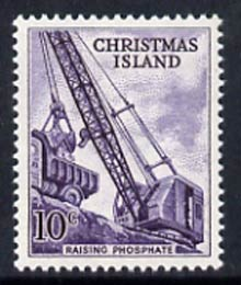 Christmas Island 1963 Phosphate Crane 10c from definitive set, SG 16 unmounted mint